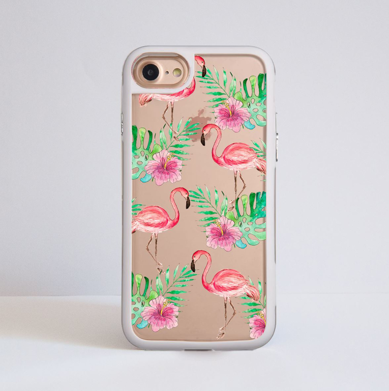 Fall Leaves Clear iPhone Impact Phone Case White | Available at Dessi-Designs.com