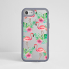 Fall Leaves Clear iPhone Impact Phone Case Grey | Available at Dessi-Designs.com