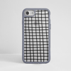 Black Cross Stripes iPhone Clear Grey Bumper Phone Case Front | Available at Dessi-Designs.com