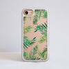 Clear Tropical Leaves iphone Impact Phone Case White | Available at Dessi-Designs.com