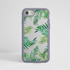 Clear Tropical Leaves iphone Impact Phone Case Grey | Available at Dessi-Designs.com
