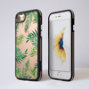 Clear Tropical Leaves iphone Impact Phone Case Black | Available at Dessi-Designs.com