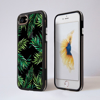 Black Tropical Leaves iphone Impact Phone Case Black | Available at Dessi-Designs.com