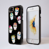 Black Sugar Skulls iPhone Impact Phone Case Black | Available at Dessi-Designs.com