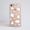White Polar Bears Clear Impact Phone Case White Front | Available at Dessi-Designs.com