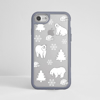 White Polar Bears  Clear Impact Phone Case Grey Front | Available at Dessi-Designs.com