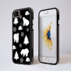 Black and White Polar Bears Clear Impact Phone Case Black Front and Back | Available at Dessi-Designs.com