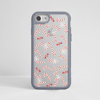 Clear Sugar Candy Canes iPhone Grey Impact Phone Case Front | Available at Dessi-Designs.com