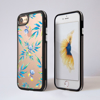 Bumper Phone Case Clear Watercolour Floral iPhone Black | Available at Dessi-Designs.com