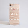 White Christmas Jumper Clear iPhone Impact Phone Case Front | Available at Dessi-Designs.com