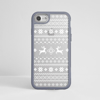 White Christmas Jumper Clear iPhone Impact Grey Phone Case Front | Available at Dessi-Designs.com