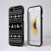 Black and White Christmas Jumper Clear Impact iPhone Black Phone Case Front and Back | Available at Dessi-Designs.com