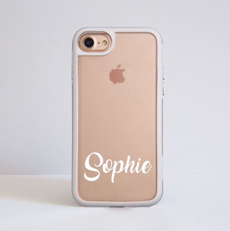Personalised White Impact Phone Case | Available at Dessi-Designs.com