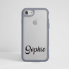Personalised Grey Impact Phone Case Black Text | Available at Dessi-Designs.com