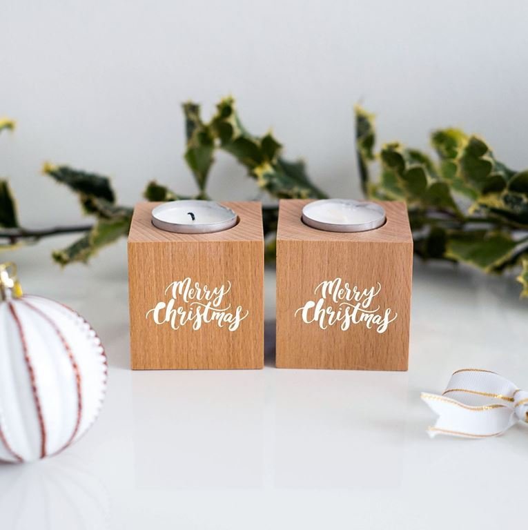 Merry christmas tea lights
