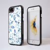 Blue Florals Impact Phone Case Front and Back | Available at Dessi-Designs.com