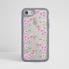 Clear Cherry Blossom Grey iPhone Impact Protective Phone Case Front | Available at Dessi-Designs.com