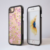 Clear Cherry Blossom Black iPhone Impact Protective Phone Case Front and Back | Available at Dessi-Designs.com