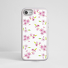 White Cherry Blossom iPhone White Impact Protective Phone Case Front | Available at Dessi-Designs.com