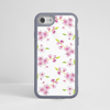 White Cherry Blossom iPhone Grey Impact Protective Phone Case Front | Available at Dessi-Designs.com