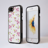 White Cherry Blossom iPhone Black Impact Protective Phone Case Front and Back | Available at Dessi-Designs.com