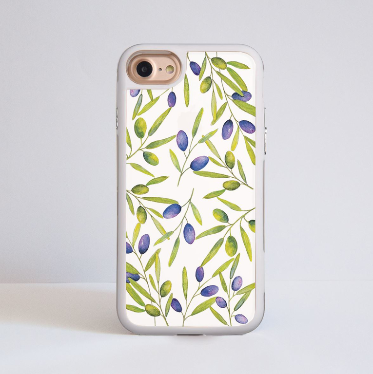White Olive iPhone Impact Phone Case White | Available at Dessi-Designs.com