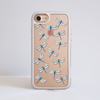 Clear Dragonfly iPhone Impact Phone Case White | Available at Dessi-Designs.com