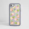 Peaches Clear iPhone Bumper Phone Case Grey | Available at Dessi-Designs.com
