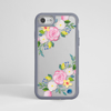 Clear Summer Florals iPhone Bumper Phone Case Grey | Available at Dessi-Designs.com