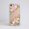 Clear Summer Florals iPhone Bumper Phone Case White | Available at Dessi-Designs.com