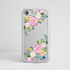 Clear Summer Florals Silver iPhone Bumper Phone Case Grey | Available at Dessi-Designs.com