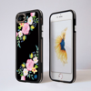 Black Summer Florals iPhone Bumper Phone Case Black | Available at Dessi-Designs.com