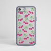Cherries iPhone Impact Clear Grey Phone Case Front | Available at Dessi-Designs.com