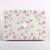 White Cherry Blossom Pattern Macbook case Front