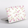 White Cherry Blossom Pattern Macbook case side  | Available at Dessi-Designs.com