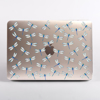 Clear Dragonfly Pattern MacBook case front  | Available at Dessi-Designs.com