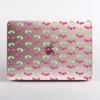 Clear Pink Cherry Pattern MacBook case front  | Available at Dessi-Designs.com