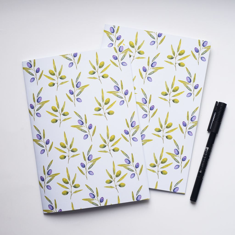 Purple Olives Notebook | Available at Dessi-Designs.com