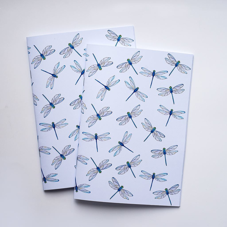 Blue Dragonfly Notebook | Available at Dessi-Designs.com