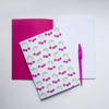 Pink Cherry jot pad | Available at Dessi-Designs.com