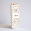 Clear Floral White Lace iPhone Bumper Phone Case Side | Available at Dessi-Designs.com