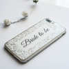 Clear Floral White Lace iPhone Bumper Phone Case Top | Available at Dessi-Designs.com