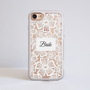 Clear Floral White Lace iPhone Impact Phone Case Front | Available at Dessi-Designs.com