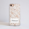 Clear Floral White Lace iPhone Impact Phone Case Side | Available at Dessi-Designs.com