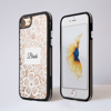 Clear Floral White Lace iPhone Impact Phone Case Black | Available at Dessi-Designs.com