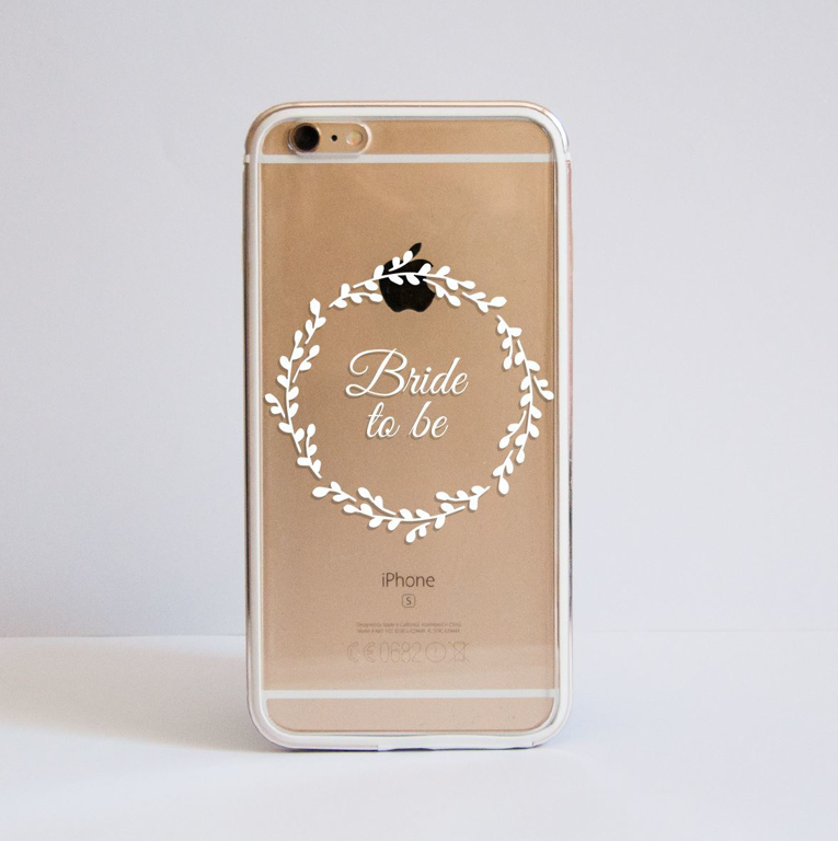 Clear White Bridal Floral iPhone Bumper Case Front | Available at Dessi-Designs.com