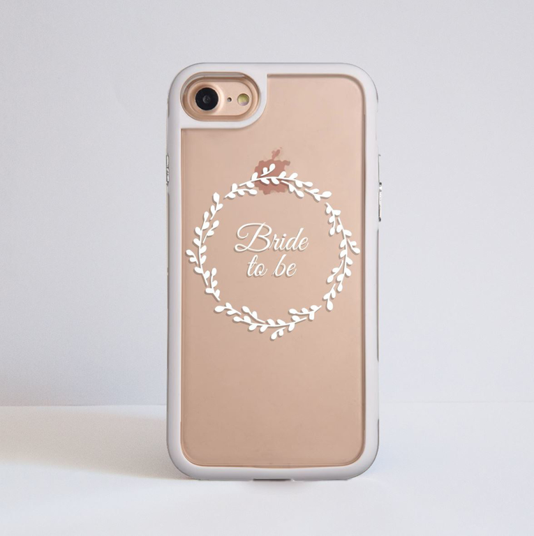 Clear White Bridal Floral iPhone Impact Case White | Available at Dessi-Designs.com