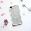 Clear White Bridal Floral iPhone Impact Case White Top | Available at Dessi-Designs.com