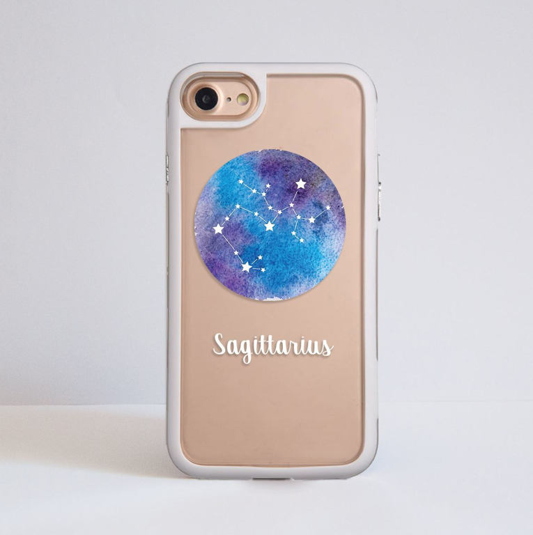 Zodiac Signs iPhone Impact Resistant Phone Case White | Available at Dessi-Designs.com