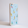 Blue Boats Bumper iPhone Case Side | Available at Dessi-Designs.com